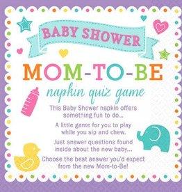 Baby Shower Napkin Quiz Game