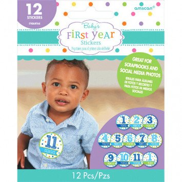 Baby's First Year Stickers Boy
