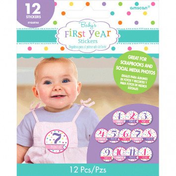 Baby's First Year Stickers Girl