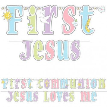 Banner Letter Jumbo Kit Communion