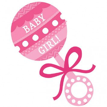 Baby Shower Cutout Baby Girl