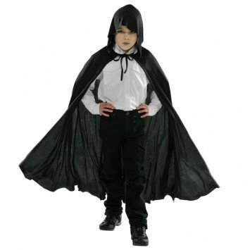 Cape Black Hooded Child Size