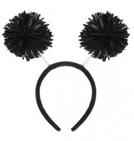 Black Pom Pom Head Bopper