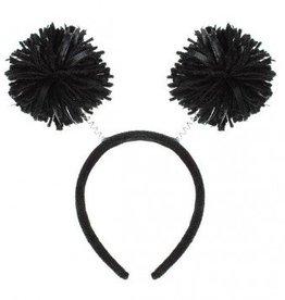 Black Pom Pom Head Bopper