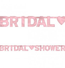 Bridal Shower Banner Pink 6ft