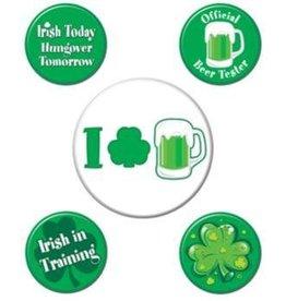St Patricks Button Set