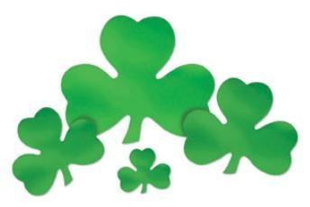 "St Patricks 16"" Foil Cutout Shamrock"