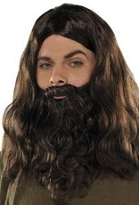 Brown Wig & Beard Set
