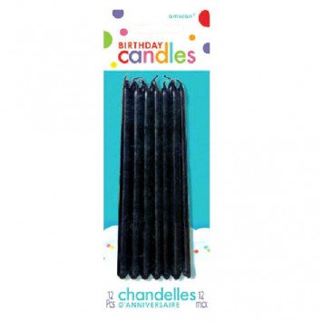 Black Mini Taper Candles