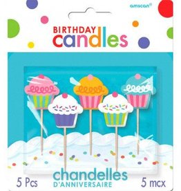 Birthday Toothpick Candles Cupcakes