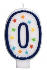 Amscan #0 Birthday Star Flat Molded Candle