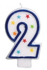 Amscan #2 Birthday Star Flat Molded Candle