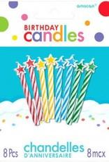 Candle Birthday Multi w/ Stars (8)
