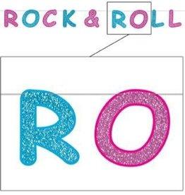 Rock & Roll Glitter Banner