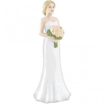 Blonde Bride Cake Topper