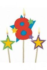 #8 Decorative Pick Candles