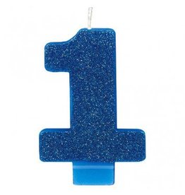 #1 Glitter Candle Blue