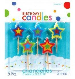 Birthday Toothpick Candles Stars