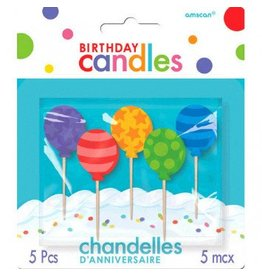 Birthday Toothpick Candles Balloons