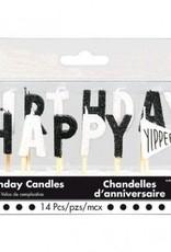 Chalkboard Birthday Happy Birthday Pick Candles