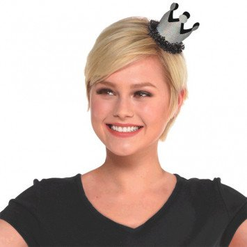 Chalkboard Birthday Mini Crown Hair Clip