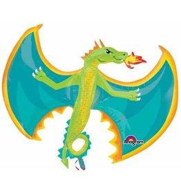 "Fire Breathing Dragon 31"" Mylar Balloon"