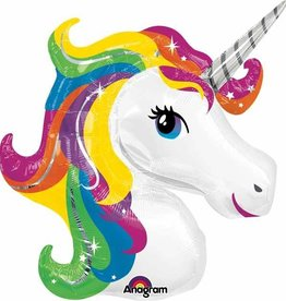 Mylar Rainbow Unicorn Balloon