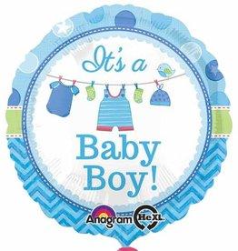"Shower With Love Boy 18"" Mylar Balloon"