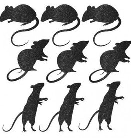 Blood Manor Glitter Paper Mice Silhouette Cutouts