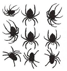 Glitter Paper Spider Cutouts
