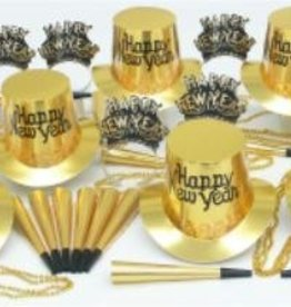 New Year Gold Regal Party Kit for 10