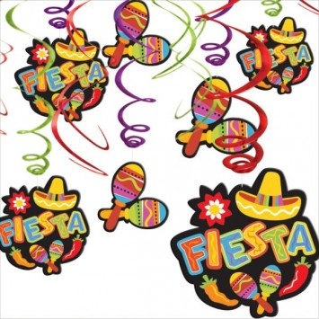 Fiesta Value Pack Foil Swirl Hanging Decorations