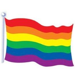 """Rainbow Flag Cutout 18"""" 2 Sided"""