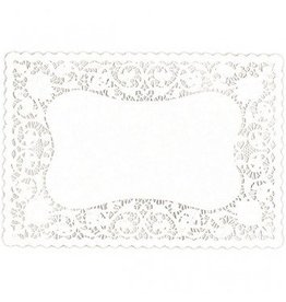 White Doily Placemats