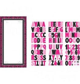 Black & Pink Customizable Door Decorating Kit