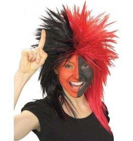 Fanatic Black/Red Wig