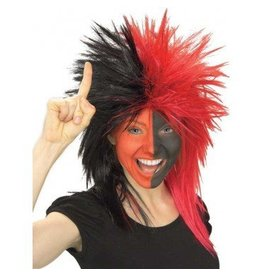 Fanatic Black/Red Wig