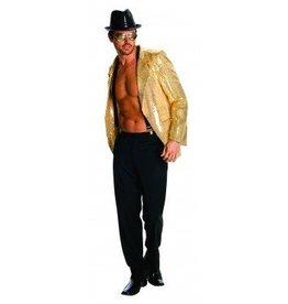 Men's Costume Gold Sequin Jacket Large