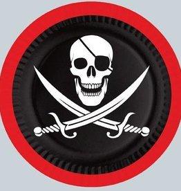 "Pirate 7"" Plates 8pk"