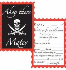Pirate Invitations 8pk