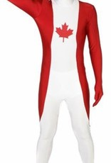 Adult Costume Morphsuit Canada Flag Medium
