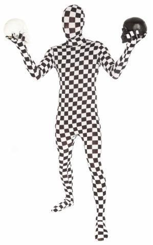 Adult Costume Morphsuit Checkered Medium