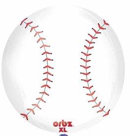 """Bubble 16"""" Baseball Orbz Balloon"""