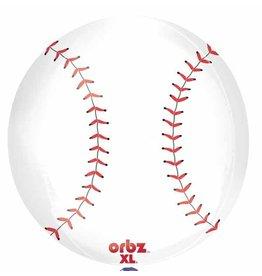 """Baseball Orbz 16"""" Bubble  Balloon"""