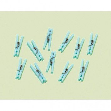 Blue Clothespin Baby Shower Favour Charms  (24)