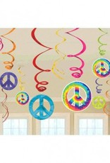 60's Value Pack Swirl Decorations