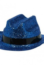 Blue Glitter Mini Cowboy Hat