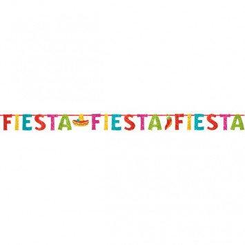 Fiesta Ribbon Banner w/Glitter Paper Letters