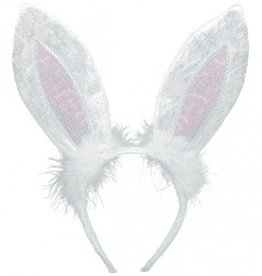 Bunny Ears Headband White