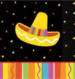 Fiesta Fun Beverage Napkin 16pc